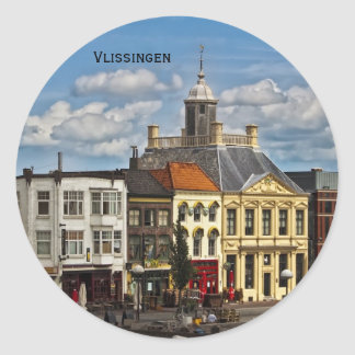Vlissingen 01 classic round sticker