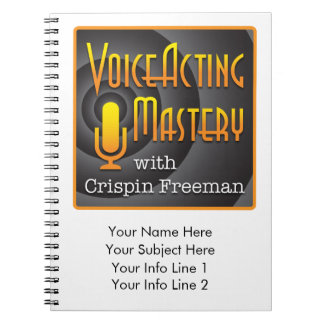 Voice Acting Mastery Customizable Notebook - PL W