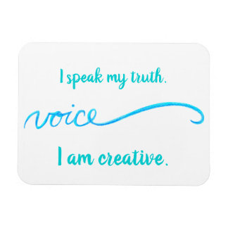 """Voice"" Blue Throat Chakra Inspiring Words Magnet"
