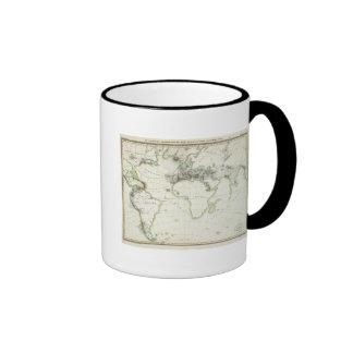 Volcanic Activity Map Ringer Mug