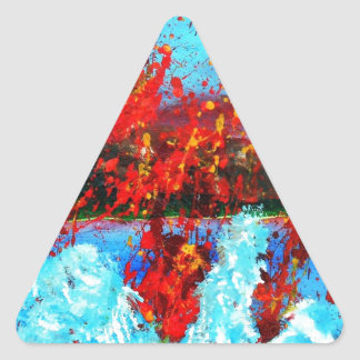 Volcanic Sneeze.jpg Triangle Sticker