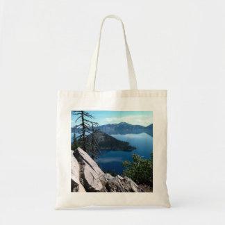 Volcano Deep Blue Crater Lake Oregon USA Budget Tote Bag