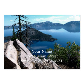 Volcano Deep Blue Crater Lake Oregon USA Pack Of Chubby Business Cards