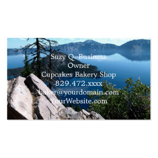 Volcano Deep Blue Crater Lake Oregon USA Pack Of Standard Business Cards