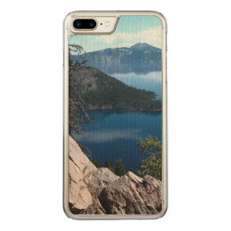 Volcano Deep Blue Crater Lake Oregon USA Carved iPhone 7 Plus Case