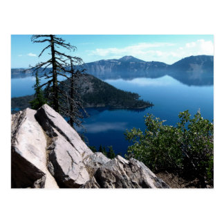 Volcano Deep Blue Crater Lake Oregon USA Postcard