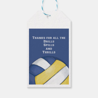 Volleyball Coach Thank You Gift Tags