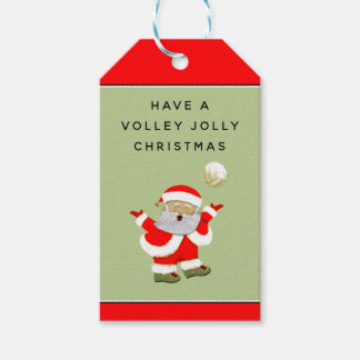 volleyball holidays gift tags