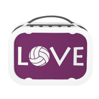 Volleyball Love Lunch Boxes