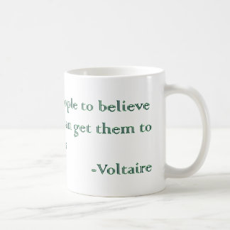 Voltaire's Absurdities and Atrocities Basic White Mug