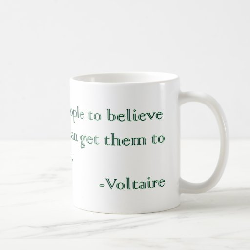 Voltaire's Absurdities and Atrocities Coffee Mugs