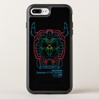 Voltron | Pilot Colors Gradient Head Outline OtterBox Symmetry iPhone 8 Plus/7 Plus Case