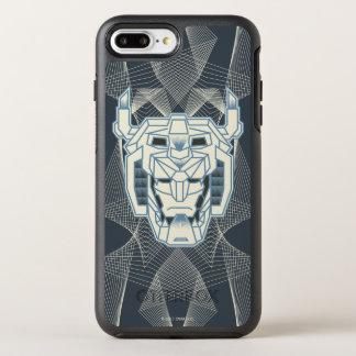 Voltron | Voltron Head Blue and White Outline OtterBox Symmetry iPhone 8 Plus/7 Plus Case