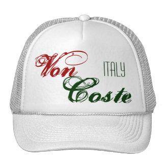 Von , Coste, ITALY Trucker Hat