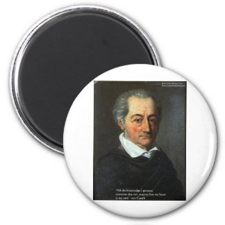 "von Goethe ""Truth"" Quote Gifts Tees & Cards Magnet"