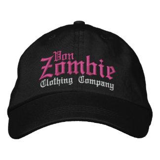 Von Zombie Skull Cap 001O Embroidered Hat