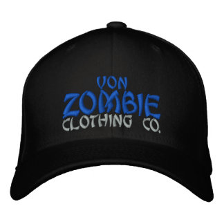 Von Zombie Skull Cap 002A Embroidered Baseball Caps