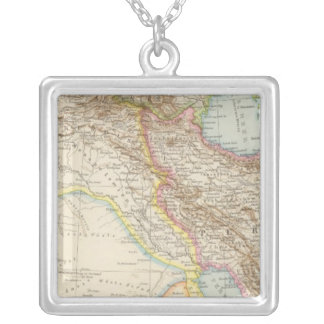 Vorderasien, Persien - Asia Minor and Persia Map Silver Plated Necklace