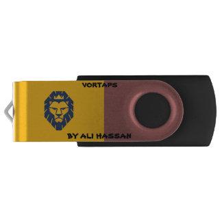 Vortaps Silver, 16 GB, Black USB Swivel USB 3.0 Flash Drive