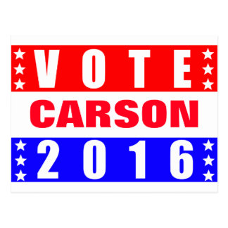 Vote Carson 2016 Presidential Election Postcard