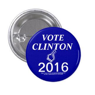 VOTE CLINTON 2016 3 CM ROUND BADGE