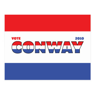 Vote Conway 2010 Elections Red White and Blue Postcard