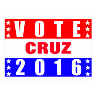 Vote Cruz 2016 Presidential Election Postcard