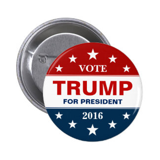Vote Donald Trump for President 2016 Campaign 6 Cm Round Badge