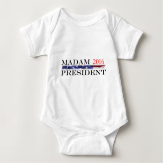 Vote for a Madam President in 2016 Baby Bodysuit