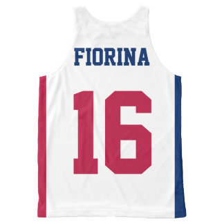 Vote for Carly Fiorina President 2016 Patriotic All-Over Print Singlet