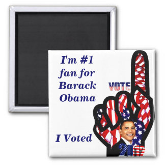 Vote for Obama #2_ Square Magnet