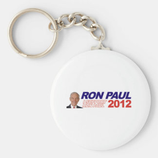Vote For Ron Paul - 2012 election president Basic Round Button Key Ring