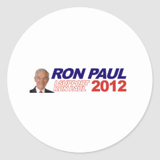 Vote For Ron Paul - 2012 election president Round Sticker