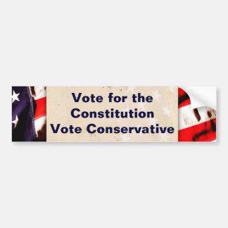 Vote For The Constitution Bumper Sticker