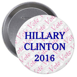 Vote Hillary Clinton 2016 10 Cm Round Badge