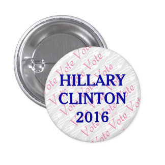 Vote Hillary Clinton 2016 3 Cm Round Badge
