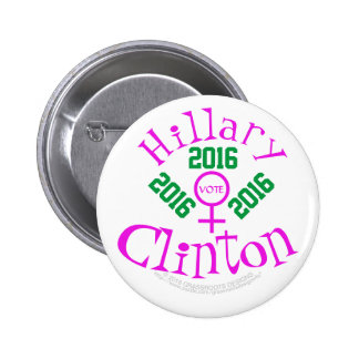 Vote Hillary Clinton 2016 6 Cm Round Badge
