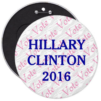 Vote Hillary Clinton 2016 6 Cm Round Badge