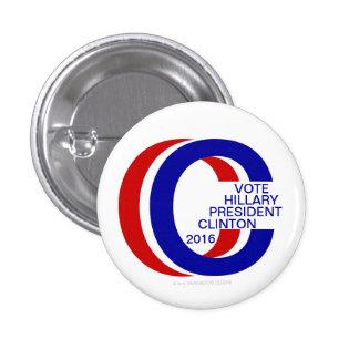 "VOTE HILLARY PRESIDENT CLINTON 2016 1 ¼"" Pinback Pin"