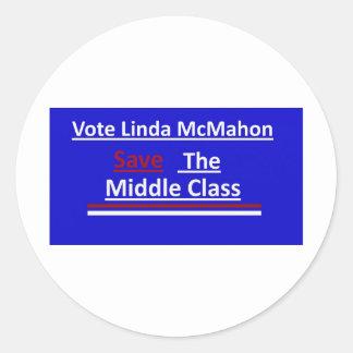 Vote Linda McMahon 2012 Senate Race Classic Round Sticker