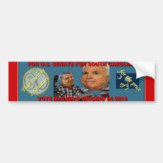 Vote McCain & Graham - Almost 2 for the price of 1 Bumper Sticker