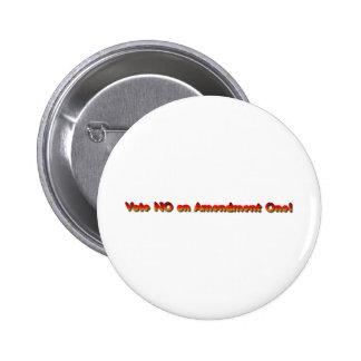 Vote No on Amendment One! Pins
