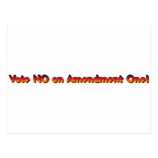 Vote No on Amendment One! Postcard