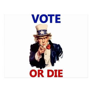 Vote or Die Postcard