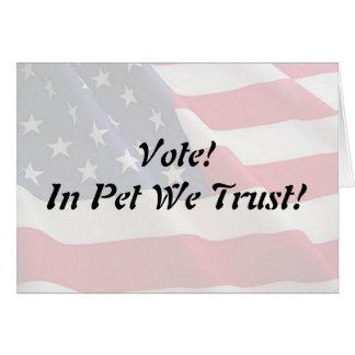 Vote Pet We Trust Card
