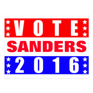 Vote Sanders 2016 Presidential Election Postcard