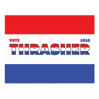 Vote Thrasher 2010 Elections Red White and Blue Postcard