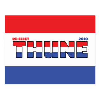 Vote Thune 2010 Elections Red White and Blue Postcard