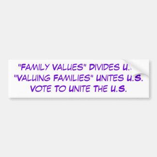 VOTE To Value ALL Families Bumper Sticker