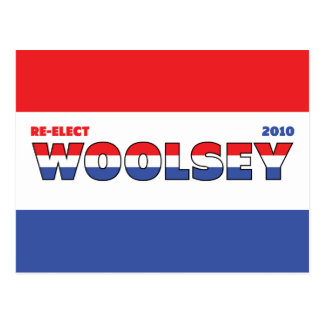 Vote Woolsey 2010 Elections Red White and Blue Postcard